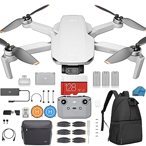 DJI Mini 2 Fly More Combo – Ultralight Foldable Drone, 3-Axis Gimbal with 4K...