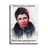 Noel Gallagher Leinwand-Kunst-Poster und Wand-Kunstdruck,
