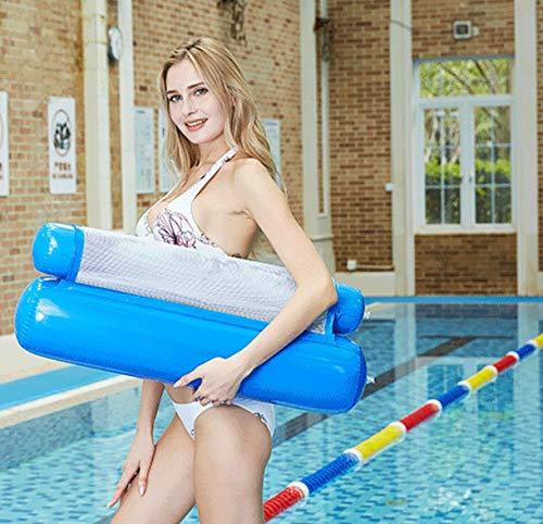 hj jh aufblasbares Schwimmbett, Wasser-Hängematte, Liegestuhl, Luftkissen, Strandkissen, Sommer-Outdoor-Liegestuhl, Wassersofa, marineblau