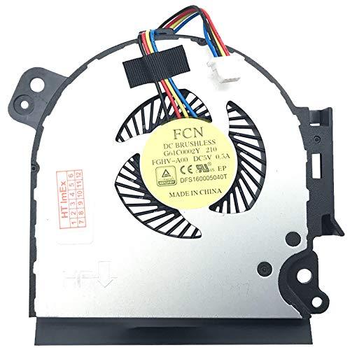 Lüfter Kühler Fan Cooler kompatibel für Toshiba Satellite Pro A50-C-15V, A50-C-10F, A50-C-11H, A50-C-181, A50-C-10E, A50-C-11F, A50-C-1G8, A50-C-117, A50-C-126, A50-C-129, A50-C-1U1