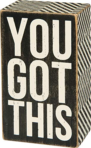 "Primitives by Kathy Mini Box Sign, 3"" x 5"", You Got This (14160317)"