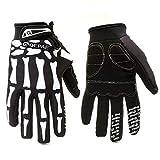 Vollfinger Motorrad Winterhandschuhe Screen Touch Handschuhe Ride Motocross Handschuhe - O-KL-BK, M,