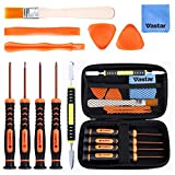 Vastar T6 T8 T10 Xbox One Screwdriver Set, 12 in 1 Xbox Repair Kit for Xbox One Xbox 360 Controller and PS3 PS4 Controller with Cross Screwdriver 1.5, Safe Pry Tools, Cleaning Brush & Cloth in EVA Bag