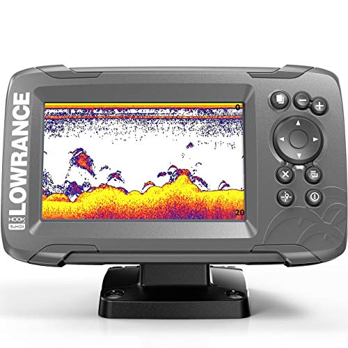 Lowrance HOOK2 5X - 5-inch Fish Finder with SplitShot Transducer and GPS Plotter (000-14016-001)
