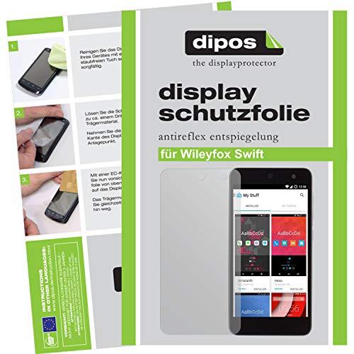 dipos I 2X Schutzfolie matt kompatibel mit Wileyfox Swift Folie Bildschirmschutzfolie
