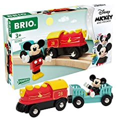 Product includes – A colorful battery-powered steam engine with a travel wagon and a Mickey Mouse figurine. A must have for any Disney fan and train lover. Batteries not included. Great for Disney fans and families - Start your budding train engineer...