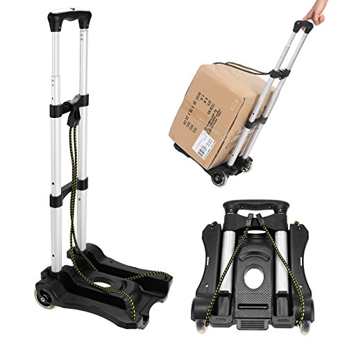 80 LB Portable Hand Truck Aluminum Folding Luggage Cart