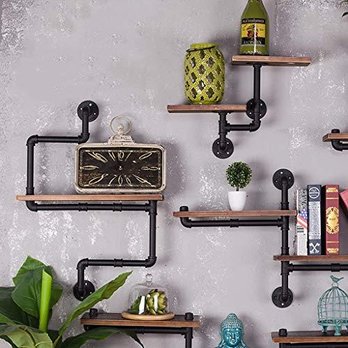 Kitchen Furniture - Support de Pipeline Mur penderie étagère en Fer forgé Salon Cadre de Stockage de Fond de TV WXP (Couleur : D)