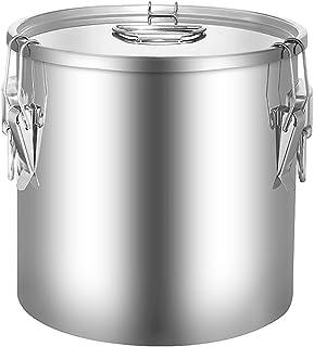 Seau à soupe/seau scellé, seau de stockage multifonctionnel épaissi en acier inoxydable 201 commercial/seau à lait/seau à ...