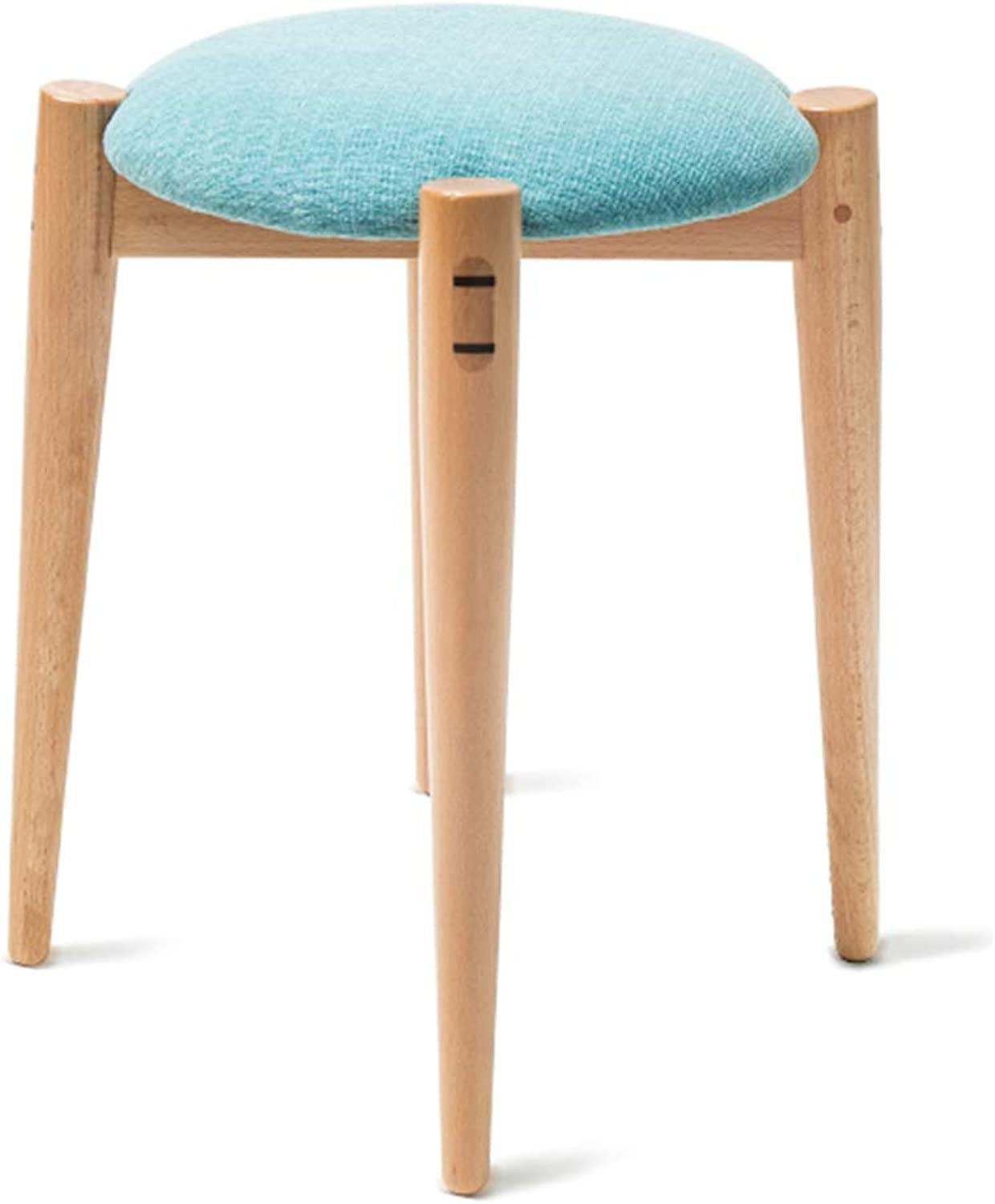 FXNN Chair - Multi-Function Solid Wood Living Room Small Square Bedroom Small Stool (color   bluee, Size   30  43cm)
