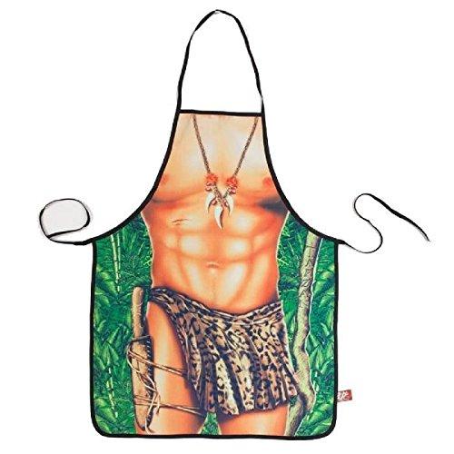 les colis noirs lcn Tablier de cuisine humoristique Homme Jungle - Cuisine Cadeau Deguisement Humour Noel - 035
