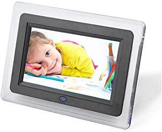 Electric Photo Frames with USB, 7 Inch Widescreen HD 16:9 Picture Album Support MP3 MP4 Video Player Clock Calendar with R...