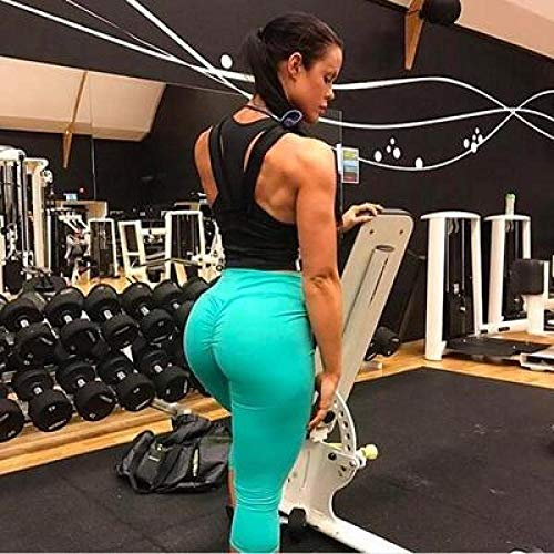 B/H Pantalones de Yoga/Pilates súper Suaves,Leggings de Mujer de Gimnasio de Cintura Alta,Fitness Sport Yoga Pants-6_XL,Pantalones de Yoga para Mujer Deportiva Atlético