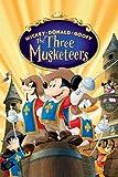 Boutiquespace - Pintura acrílica y lienzo, para adultos, adolescentes, artesanía para decoración de la pared, diseño de Mickey Donald Goofy: la DREI Musketiere 20 x 16 pulgadas