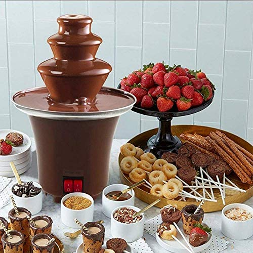 Mini Chocoladefontein Chocoladefontein Huisbrandolie Machine Voor Dip Marshmallow Fruit Make EIS Koekjes Dessert, Capaciteit 300G