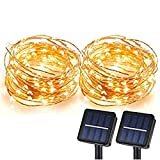 Solar String Lights, Sunlitec 100 LEDs Starry String Lights, Copper Wire Solar...