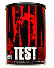 Animal Test is the complete test booster pack for; strength athletes, bodybuilders, power lifters, and anyone looking to take their gains to the next level, and will stop at nothing to get there. Animal Test works to increase both your testosterone o...
