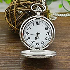 Smooth Vintage Steel Quartz Pocket Watch Classic Fob Pocket Watch with Short Chain for Men Women - Gift for Birthday Anniversary Day Christmas Fathers Day #1