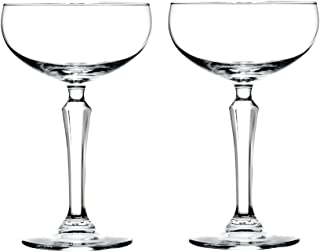 Libbey Speakeasy Coupe Glass 7 oz - 2 Pack w/ Pourer
