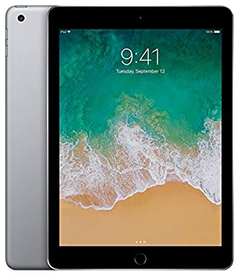 Apple iPad (5th Generation) Wi-Fi, 128GB - Space Gray (Renewed) by Apple Computer