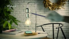 Juicy Organizer Desk Lamp With Charging Outlet Blue