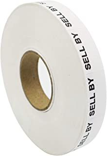 Amram Price Marking Labels 1 Line, White/Black Sell by, 1 Sleeve of 17,000 Labels (16 Rolls, 1,063 Labels Per Roll), Includes 1 Replacement Ink Roller, Compatible w/Monarch 1110