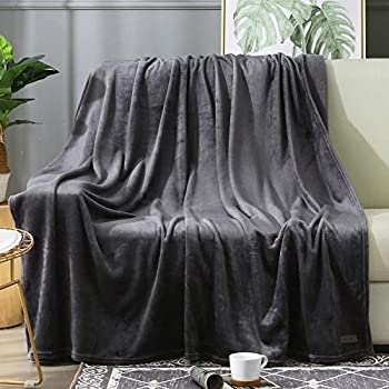 BEAUTEX Fleece Throw Blanket for Couch Sofa or Bed Throw Size Soft Fuzzy Plush Blanket Luxury Flannel Lap Blanket Super Cozy and Comfy for All Seasons  Graphite 50  x 60