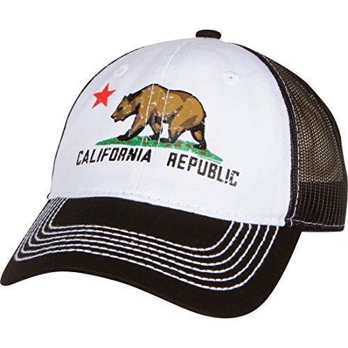 Dolphin Shirt Co California Republic Screen Print Trucker Hat - Black