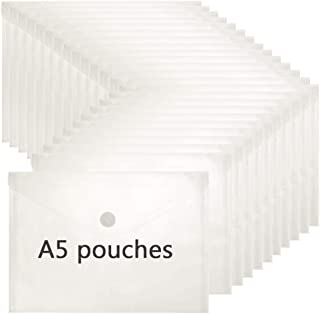 FJCA Clear Envelopes with Hook and Loop Closure 6.7