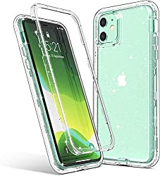 in budget affordable ULAK Case for iPhone11 Transparent Glitter Protection Heavy Duty Impact Resistant Long-lasting protective cover software …