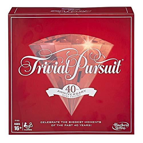 Trivial Pursuit E192310240th Anniversary Ruby Edition, Multicolore (Versione Inglese)