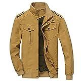 La primavera y el otoño de la chaqueta de los hombres de algodón casual deportes ejército chaqueta
