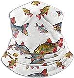 Yoongi93 Simulatore di pesce unisex scaldacollo in microfibra copricapo copricapo maschera...