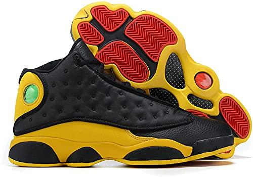 CPBY Men13 Decompressione Traspirante Nuove Scarpe da Basket Abbigliamento Abbigliamento Scarpe Traspiranti, Black-Yellow - 11