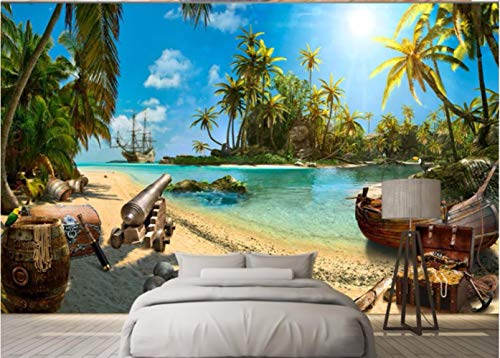 Benutzerdefinierte Tapete 3d Foto Wandbild Magic Pirate Treasure Island Landschaft Tv Hintergrund Tapete Wandbild