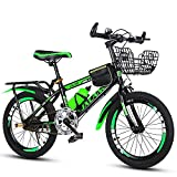 N&I Bicycle 18-22 inch Mountain Bike High Carbon Steel 6-13 Year Old Boy and Girl Bike Primary School Single Speed Bicycle Blue 18inch