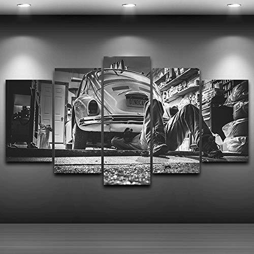WSNDGWS HD Pintura Decorativa Chorro de Tinta Piezas mecánicas Pintura Artesanal Gama Alta Sala de Estar Pintura Decorativa sin Marco E3 40x60cmx2 40x80cmx2 40x100cmx1