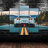 CCRTAR Fotos de GTR Luxury Sports Car Impresiones sobre Lienzo 5 Piezas Lienzos Moderno Arte Sala Decoración Regalo