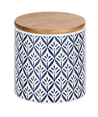 Wenko Aufbewahrungsdose Lorca 0,45 l - Vorratsdosen, Frischhaltedose mit Bambusdeckel und Silikonring luftdicht und aromafrisch Fassungsvermögen: 0,45 l, Keramik, 10 x 10 x 10 cm, mehrfarbig