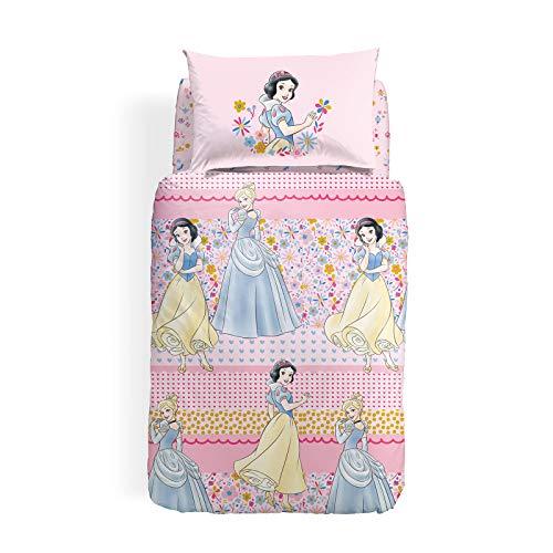 Caleffi Princess Romance Completo Copripiumino, Cotone , Unica, Singolo, 1001303 , Disney