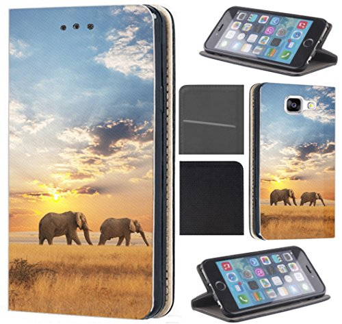 CoverHeld Hülle für Motorola One Zoom Handyhülle Design 1465 Elefant Elefanten Afrika Wildness aus Kunstleder Schutzhülle Flipcover Beidseitig Handy Hülle Hülle für Motorola One Zoom