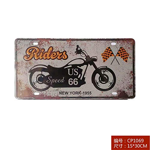 Ami0707 Home Wall Decoration Metal Poster Retro Tin Sign Car Number Plate 20x30cm 20