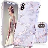 DOUJIAZ Coque iPhone X,Coque iPhone 10, Ultra-Mince Glitter Paillette TPU Silicone...