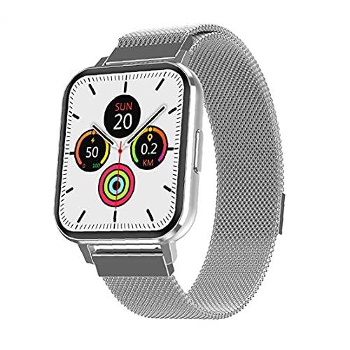 Smart Watch Smart Armband.Smart Watch Fitness Tracker Smart Band DTX Herzfrequenz Test Armband Sport Smartwatch Für Männer Frauen Silber