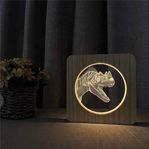 Houten lichten acryl nachtlampje Chinese draak oranje stiertje Ganso krokodil zeepaard kreeft beer haai slang tafellamp