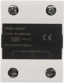 Solid State Relay, 60AA/80AA/100AA/120AA SSR Solid State Relay Module 24-480VAC Compatible with Integrated Circuits Such as TTL for CNC Mechanical Remote Control System(BRM-100AA)