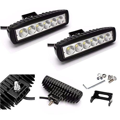 2 x luz antiniebla de haz puntual de alta potencia DRL 12V 24V LED 18W Lámpara de trabajo