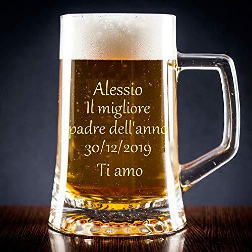 Calledelregalo Boccale di Birra Personalizzata con Il Testo Che Desideri