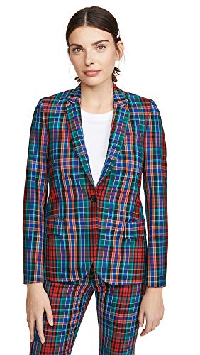 Paul Smith Women's Plaid Jacket, Red, 40