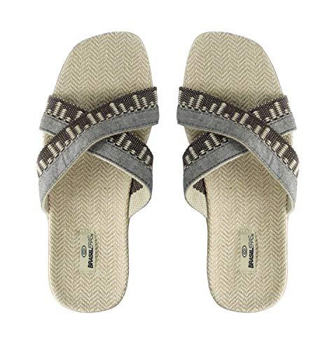 Sandalias de Playa BRASILERAS,Cruzadas. Suela Antideslizante del 40 al 45. Hombre para Interior/Exterior. Zapatos Casual Verano